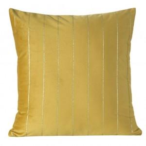 Dekoračné obliečky na vankúše zlatej farby 45x45 cm