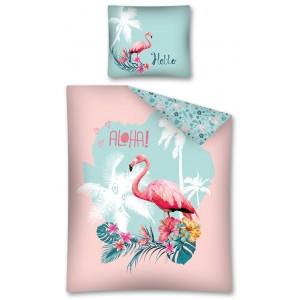 Detské posteľné obliečky s motívom plameniaka