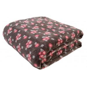 Luxusná jemná deka s motívom kvetín