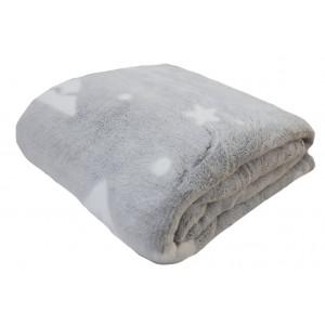 Luxusná hebká deka sivej farby
