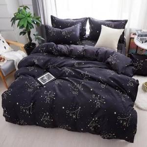 Kvalitné posteľné prádlo čiernej farby
