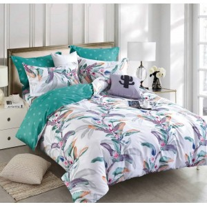 Pestrofarebné posteľné obliečky z mikrovlákna