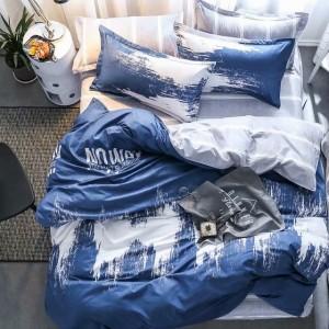 Modré posteľné obliečky z mikrovlákna 160x200 cm