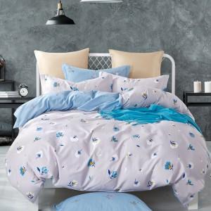 Kvalitné bavlnené posteľné obliečky fialovej farby