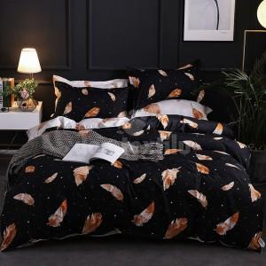 Elegantné posteľné obliečky v čiernej farbe