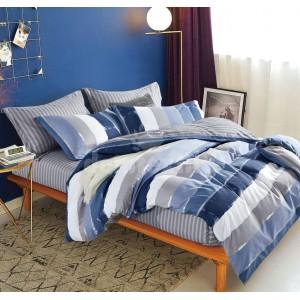 Pruhované obliečky na posteľ
