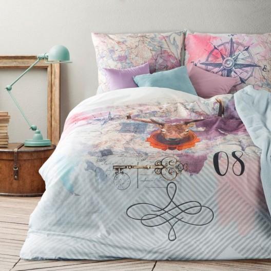 Farebné bavlnené obliečky s motívom jeleňa