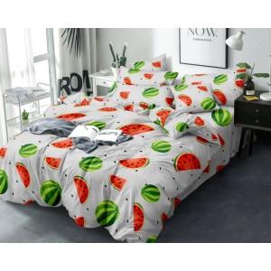 Sivé posteľné prádlo z mikrovlákna s motívom melóna