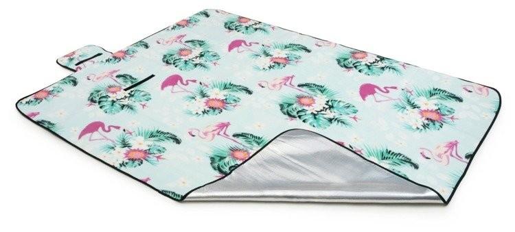 DomTextilu Svetlo plážová deka s motívom plameniakov 200 x 220 cm 14100-41250 Zelená