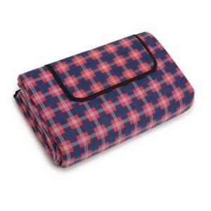 Kvalitná pikniková deka v modro červenej farbe