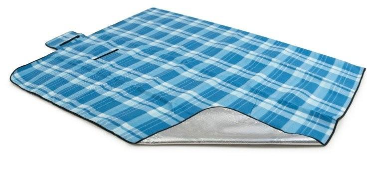DomTextilu Svetlo modrá plážova deka s károvaným vzorom Šírka: 200 cm | Dĺžka: 220 cm 14102-41254
