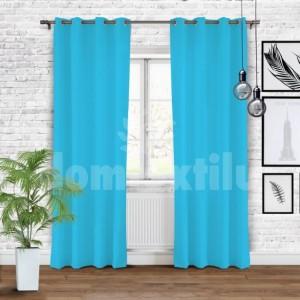 Modrý tieniaci záves do obývačky