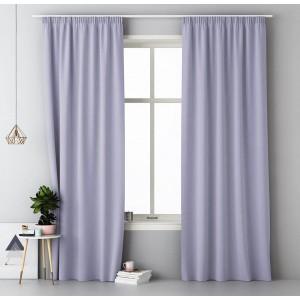 Elegantné fialové závesy do obývačky