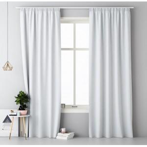 Dekoračný biely záves do obývačky