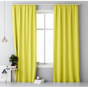 Výrazný záves v žltej farbe