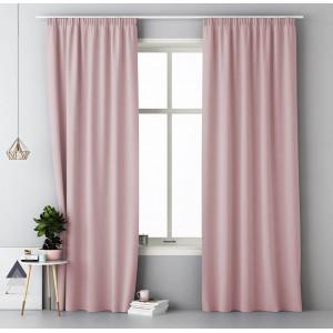 Jemný záves v púdrovo ružovej farbe