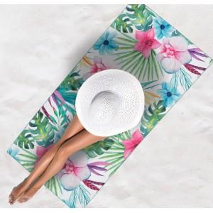 Kvietkovaná plážová osuška na leto