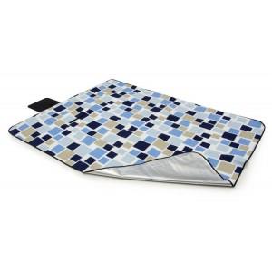 Farebné piknikové deky s motívom modrých kociek