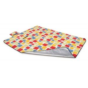 Farebná plážová deka s kockovaným vzorom