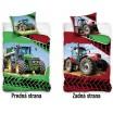 Obojstranné posteľné obliečky s motívom traktora