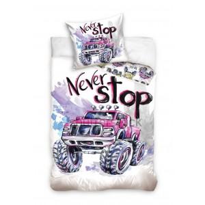 Detské posteľné obliečky s nápisom Never Stop