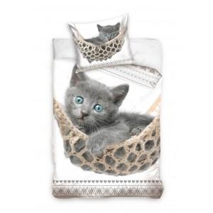 Kvalitné obliečky na posteľ s mačičkou