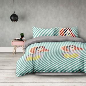 Retro posteľné obliečky v zelenej farbe