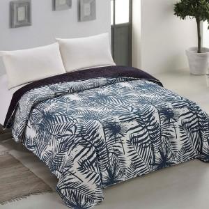 Kvalitný obojstranný prehoz na posteľ s prešívaním
