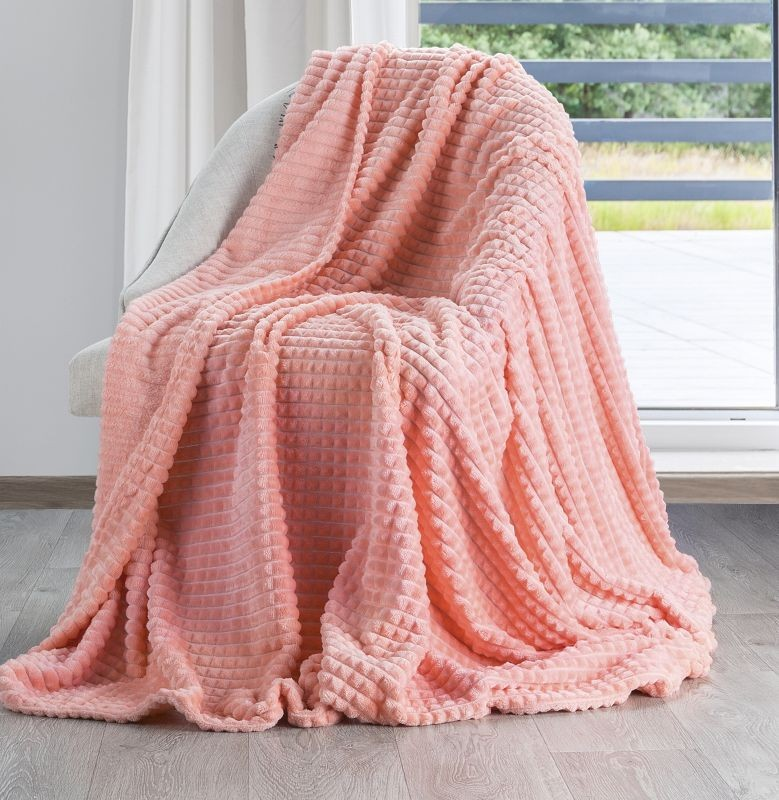 DomTextilu Štýlová teplá deka korálovo ružovej farby Šírka: 70 cm | Dĺžka: 160 cm 14466-104325