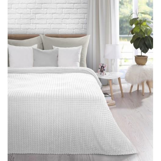 Luxusná biela teplá deka do obývačky
