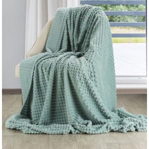 Moderná jemná a teplá deka so vzorom v krásnej zelenej farbe