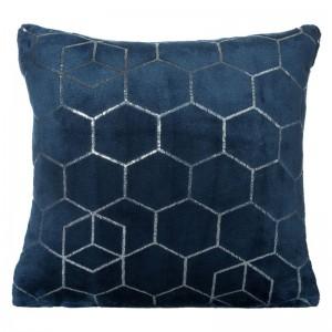 Dekoratívna tmavo modrá obliečka na vankúš 40x40
