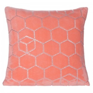 Dekoračná obliečka na vankúš v krásnej korálovo ružovej farbe