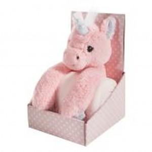 Ružová detská deka pre dievčatko v darčekovom balení s jednorožcom