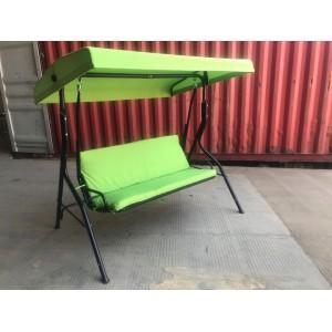 Veľká záhradná hojdačka zelenej farby