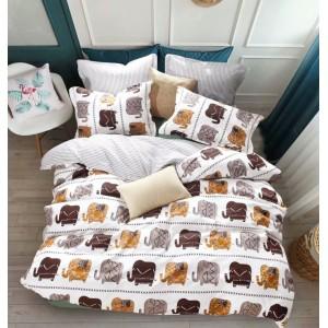 Štýlové obojstranné posteľné obliečky na posteľ s motívom slonov