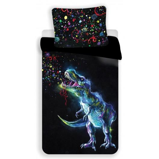 Originálna detská obliečka s výraznými farbami a motívom dinosaura