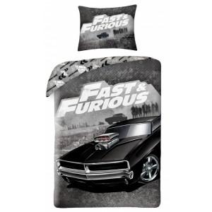Bavlnené posteľné obliečky so vzorom auta