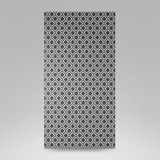 Čierno biely záves s ornamentom