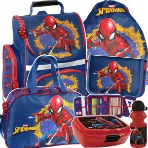 Originálna šesťdielna školská taška pre chlapcov s motívom spidermana