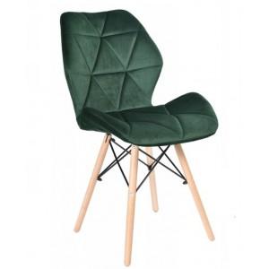 Mäkká zelená stolička do interiéru