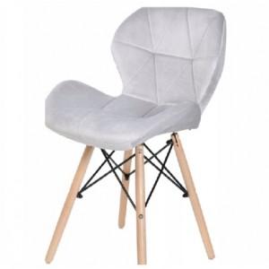 Kvalitná stolička do moderného interiéru v sivej farbe