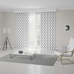 Unikátny záves v bielo čiernom prevedení s trendy škandinávsky vzorom