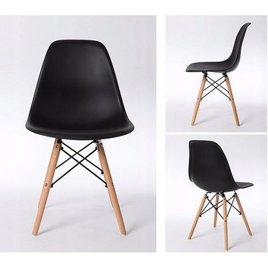 Elegantná čierna stolička do interiéru