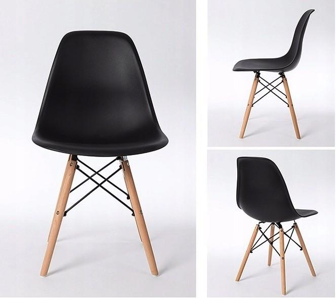 DomTextilu Elegantná čierna stolička do interiéru 14622
