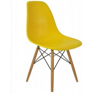 Žltá stolička do škandinávskeho interiéru