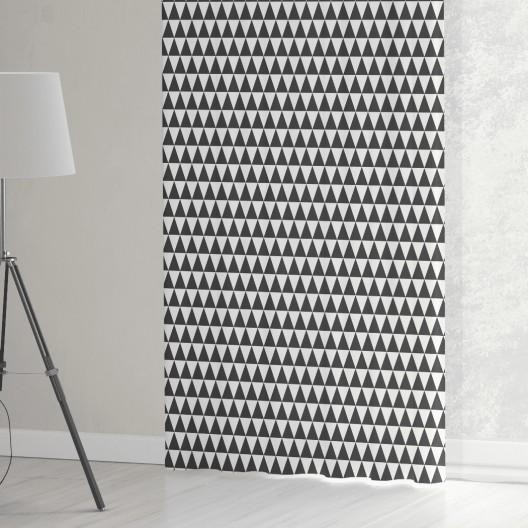 Bielo čierne závesy do obývačky šité na mieru s pepitovým vzorom
