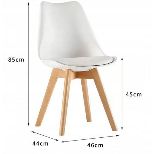 Biela stolička s mäkkým podsedákom