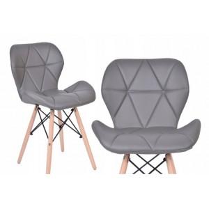 Pohodlná sivá stolička