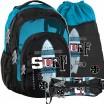 Kvalitné školské batohy pre stredoškolákov v trojsade s motívom surfu